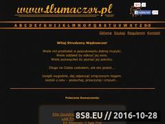 Miniaturka tlumaczor.pl (Tłumaczenia piosenek - Tlumaczor.pl)