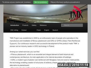 Zrzut strony TMK Projekt - sztukateria gipsowa, konstrukcje GRG, profile elewacyjne