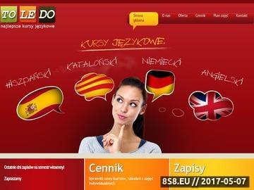 Zrzut strony Kurs hiszpańskiego Łódź
