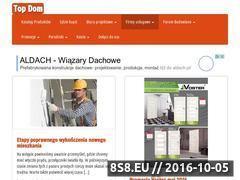 Miniaturka topdom.com.pl (Forum budowlane, poradniki, okna, drzwi oraz bramy)