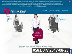 Miniaturka www.totylkoastma.pl (Informacje medyczne o astmie)