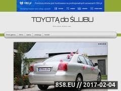 Miniaturka domeny toyotadoslubu.cba.pl