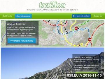 Zrzut strony Interaktywna mapa szlaków turystycznych