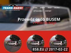 Miniaturka trans-radzi.pl (Komfort podróży, bezpieczeństwo oraz rezerwacja SMS)