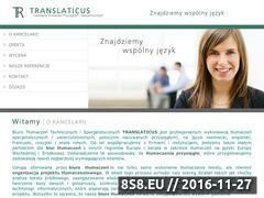 Miniaturka domeny translaticus.pl