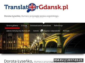 Zrzut strony Translator.pl - tłumacz przysięgły języka angielskiego