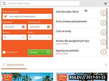 Zrzut strony Oferty na urlop w Travelplanet.pl