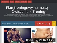 Miniaturka treningok.pl (Treningi, ćwiczenia na masę oraz ranking odżywek)