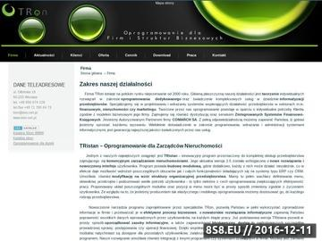 Zrzut strony TRon Oprogramowanie dedykowane dla firm, programy do zarządzania ERP