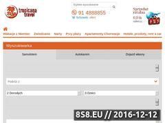 Miniaturka domeny tropicana.travel.pl