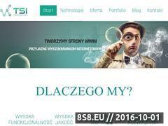Miniaturka Tworzenie oraz projektowanie stron internetowych (www.tsi.info.pl)