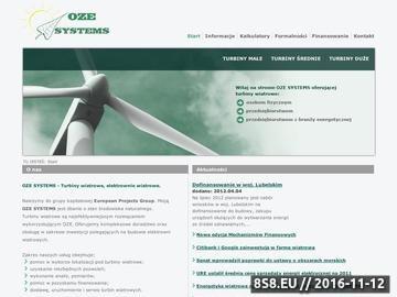 Zrzut strony Turbiny wiatrowe, elektrownie wiatrowe