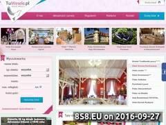 Miniaturka tuwesele.pl (Portal z listą lokali weselnych)