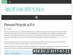 Miniaturka www.twojapierwszapozyczka.pl (Doradztwo w wyborze pożyczek)