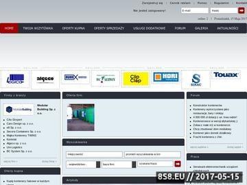 Zrzut strony Kontenery ogłoszenia o kontenerach