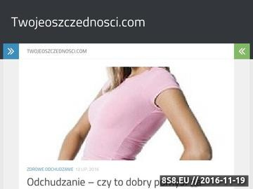 Zrzut strony Twojeoszczednosci.com - ranking lokat online
