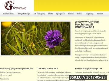 Zrzut strony Równowaga - Centrum Psychoterapii. Psycholog Łódź.
