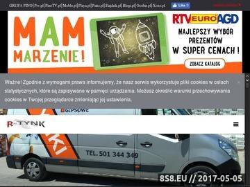 Zrzut strony R-TYNK tynki gipsowe i cementowo-wapienne Lublin, Kraśnik, lubelskie