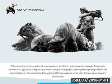 Zrzut strony Ubezpieczenia w Gefion