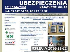 Miniaturka domeny www.ubezpieczeniaslupsk.tp2.pl