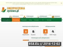 Miniaturka domeny www.ubezpieczeniazyciowe.pl