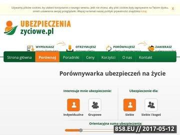 Zrzut strony Ubezpieczeniazyciowe.pl - ubezpieczenia na życie