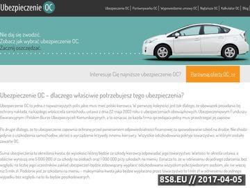 Zrzut strony Ubezpieczenie OC - ubezpieczenie-oc.org.pl