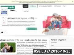 Miniaturka domeny www.ubezpieczeniezycia.com.pl