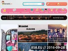 Miniaturka www.ubieranka.pl (Portal dla dzieci i nastolatek z grami)