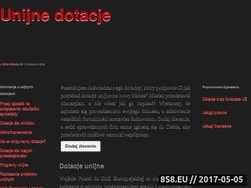 Zrzut strony Dotacje unijne
