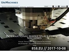 Miniaturka unimachines.pl (Giełda maszyn)