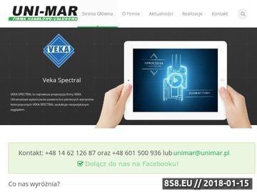 Zrzut strony FHU UNI-MAR - okna i drzwi