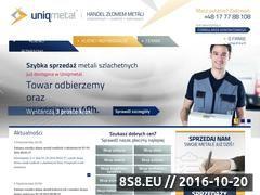 Miniaturka domeny www.uniqmetal.pl