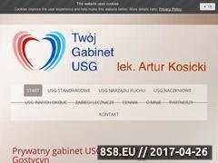 Miniaturka www.usg-kosicki.pl (Twój Gabinet USG wykonujem badania USG prywatnie)