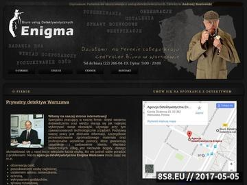 Zrzut strony Usługi detektywistyczne Warszawa