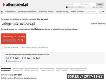 Zrzut strony Informatyczne usługi internetowe