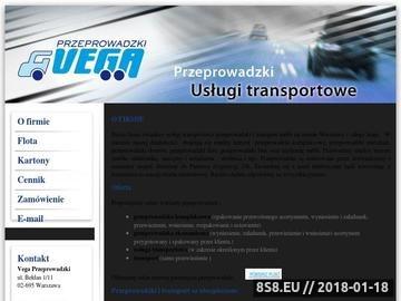 Zrzut strony Przeprowadzki, Usługi Transportowe