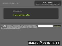 Miniaturka domeny www.usuwaniegraffiti.eu