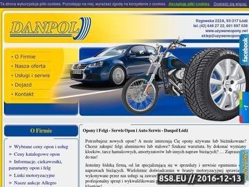 Zrzut strony Serwis Opon Łódź tanie opony używane letnie i zimowe, felgi aluminiowe i stalowe