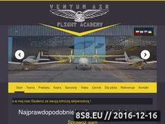 Miniaturka ventumair.eu (Szkoła lotnicza w Warszawie)