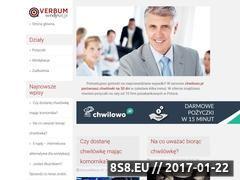 Miniaturka domeny www.verbum-windykacja.pl