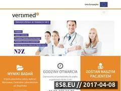 Miniaturka domeny www.vertimed.pl