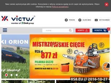 Zrzut strony Internetowy sklep ogrodniczy Victus