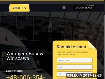 Zrzut strony Wynajem busów Warszawa - wypożyczalnia Busów