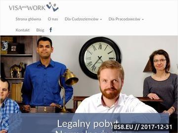 Zrzut strony Zatrudnienie Obcokrajowca - VISA and WORK