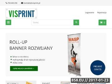 Zrzut strony Roll up cena - Visprint