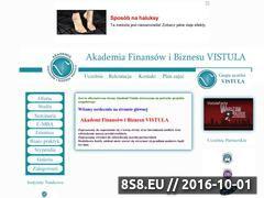 Miniaturka vistula775.cba.pl (Strona z informacjami o uczelni Vistula)
