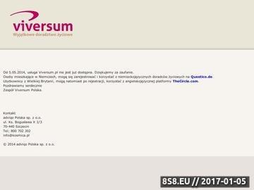 Zrzut strony Viversum.pl - wróżby, tarot, jasnowidzenie - pierwsza rozmowa gratis.