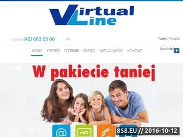 Zrzut strony Internet Łódź Virtual Line