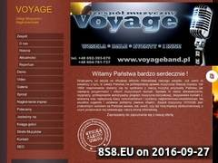 Miniaturka voyageband.pl (Zespół muzyczny na imprezy okolicznościowe)